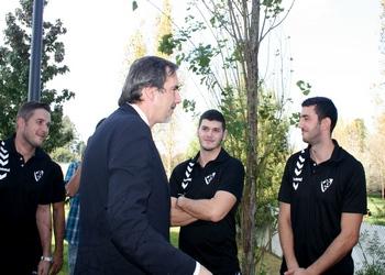 Secretario de Estado visitou seleção em Gaia 2