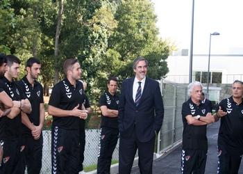 Secretario de Estado visitou seleção em Gaia 3