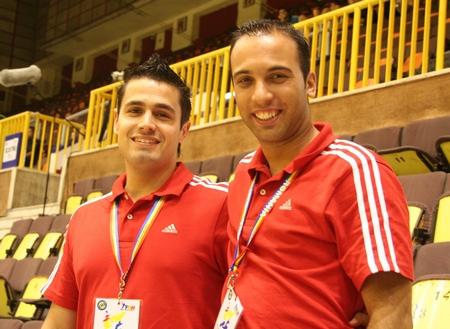 Eurico Nicolau e Ivan Caçador (arbitros)