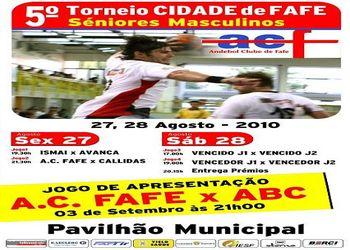 Cartaz 5º Torneio Cidade de Fafe