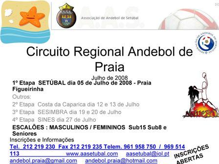 1º Circuito Regional de Andebol de Praia - A.A. Setúbal