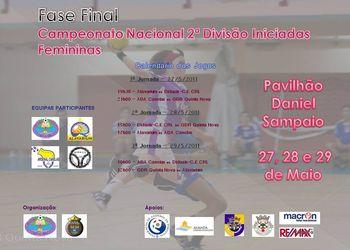 Cartaz da Fase Final Campeonato Nacional 2ª Divisão Iniciadas Femininas