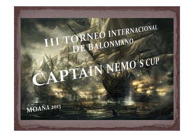 Cartaz 3ª Edição do Torneio de Andebol Captain Nemo´s Cup