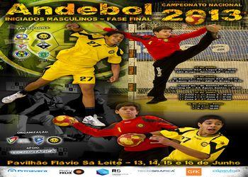 Cartaz Fase Final Campeonato Nacional Iniciados Masculinos 2012-2013