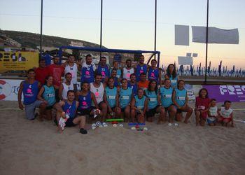 Raccoons D´Areia (Masters Masculinos) e 100 Ondas (Masters Femininos) - campeões nacionais de Andebol de Praia 2013