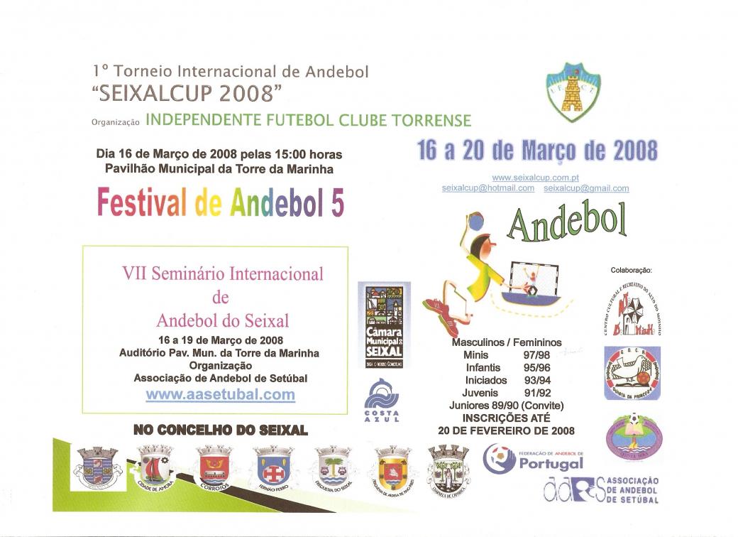 Folheto Seixal Cup - 16 a 20 de Março de 2008