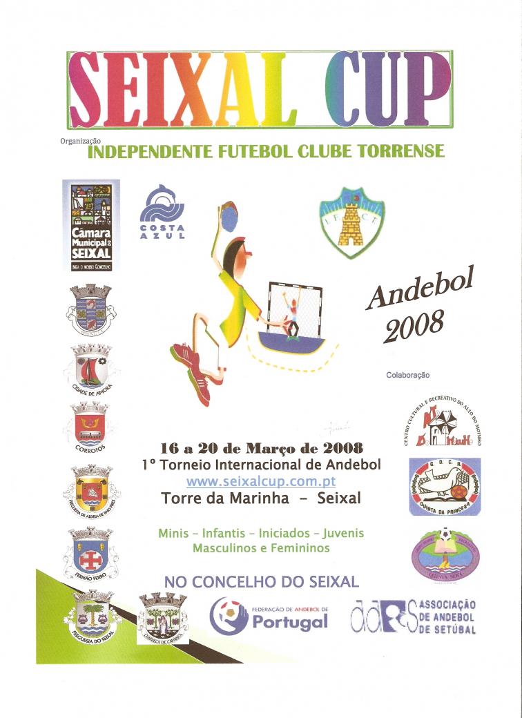 Cartaz Seixal Cup - 16 a 20 Março 2008