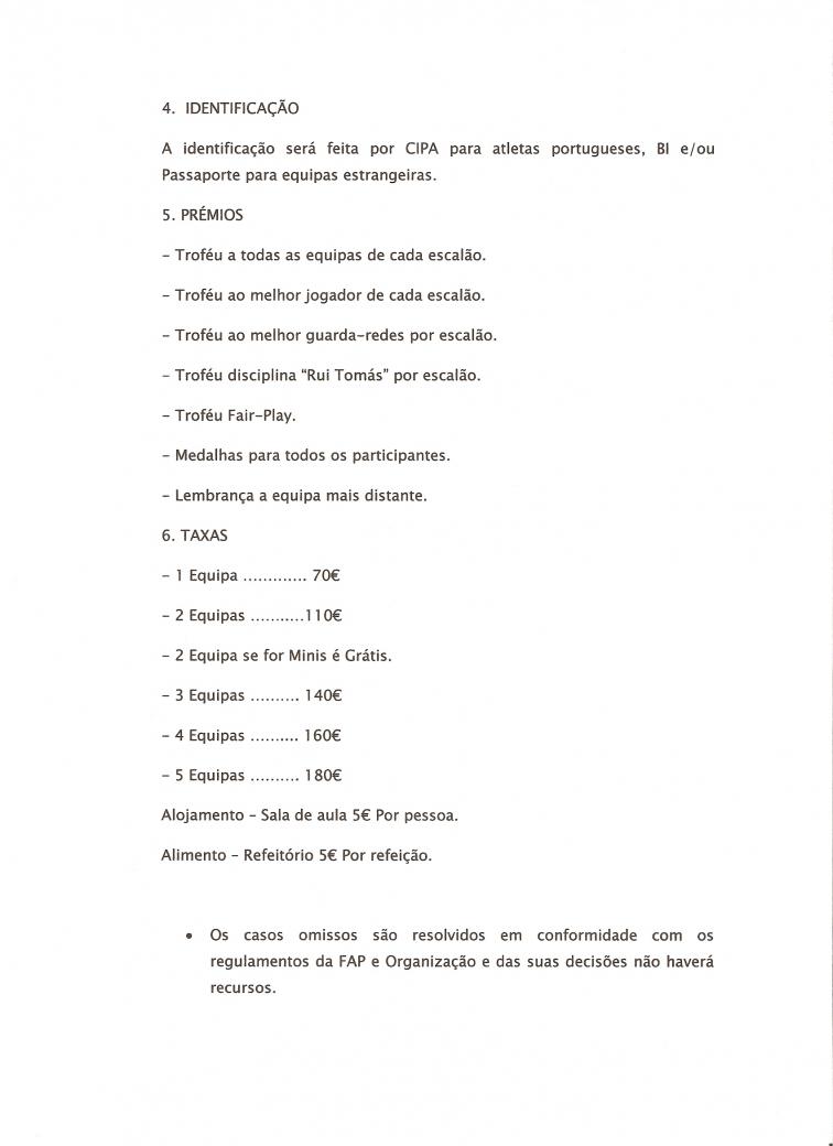 Informação Seixal Cup I
