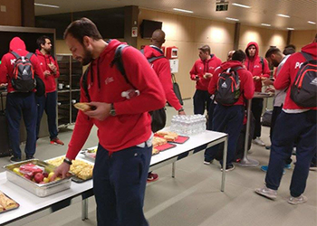Seleção Nacional A - Chegada Suíça