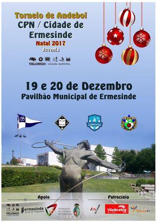 Cartaz Torneio CPN - Cidade de Ermesinde Natal 2017