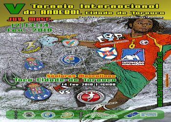 Cartaz V Torneio Internacional Andebol Cidade Tarouca