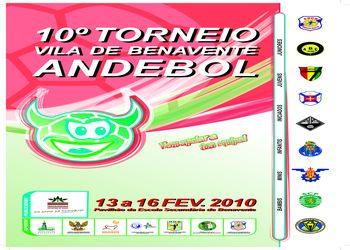 Cartaz 10º Torneio de Andebol Vila de Benavente