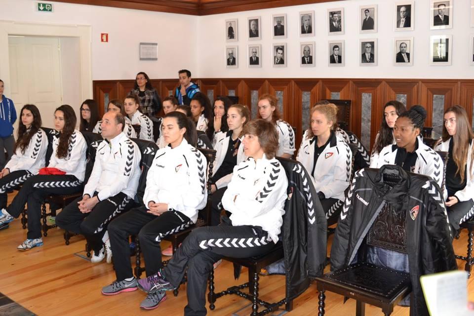 Seleção Nacional de Andebol Feminina Sub19 recebida na Câmara Municipal de Pinhel