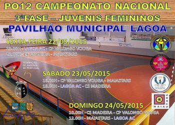 Cartaz Fase Apuramento Campeonato Nacional Juvenis Femininos – Lagoa - 22 a 24.05.2015