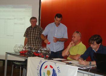 Sorteio CN Seniores Masc 2ª Divisão - representantes do CDC Santana e do GC Santo Tirso - Fafe, 01.09.12