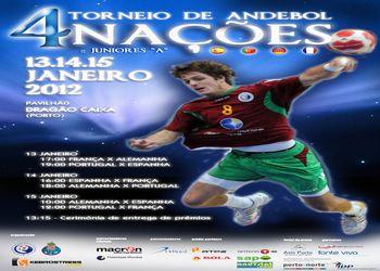 Cartaz Torneio 4 Nações - 13 a 15.01.2012