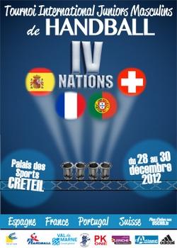 Cartaz Torneio Quatro Nações - Creteil 2012