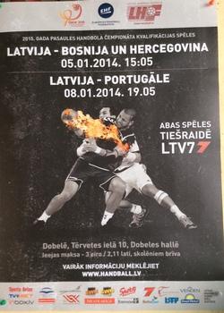 Cartaz do jogo Letónia-Portugal