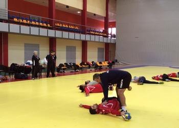 Treino da seleção senior em Dobele - 08.01.2014