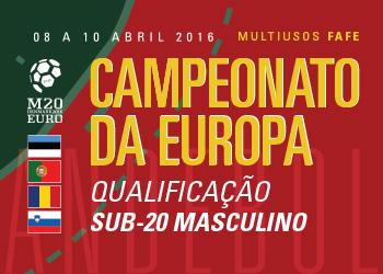 Cartaz Qualificação Sub20 Masculinos - 8 a 10 Abril 2016, Fafe