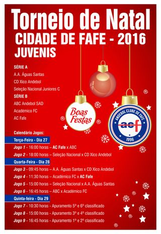 Cartaz Torneio de Natal - Cidade de Fafe 2016
