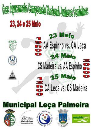 Cartaz Fase de Apuramento do Campeonato Nacional Juniores Femininos 2013/14