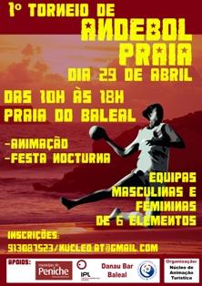 Cartaz 1º Torneio Andebol de Praia - Baleal, Peniche