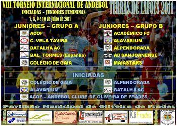 Cartaz VIII Torneio Internacional de Andebol - Terras de Lafões 2011