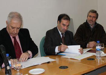 Assinatura de Protocolo de parceria assinado pelo presidente da autarquia, José Eduardo Ferreira, e pelo presidente da Federação de Andebol de Portugal, Henrique Torrinha