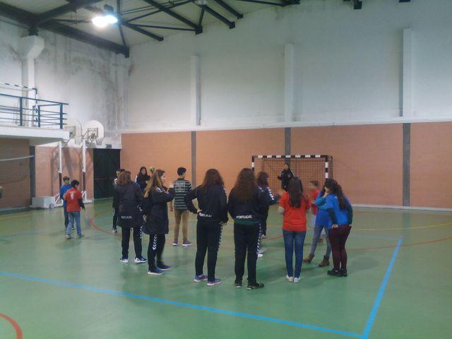 Selecção Nacional A Feminina em visita à Escola de Santa Cruz da Trapa em S. Pedro do Sul