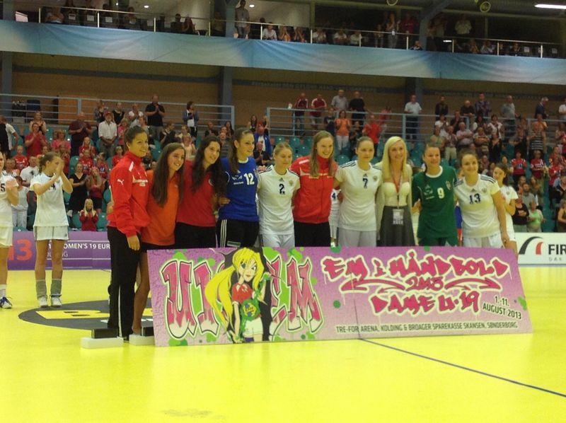 Vencedoras dos prémios individuais do Campeonato da Europa de Sub19 femininos Dinamarca 2013