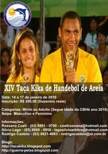 Cartaz XIV Taça Kika de Andebol de Praia