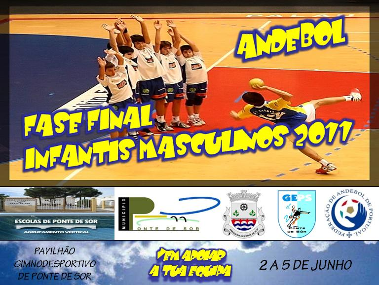 Cartaz Fase Final Campeonato Nacional Infantis Masculinos