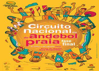 Cartaz Fase Final Circuito Nacional Andebol Praia Portimão 2015