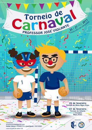 Cartaz Torneio de Carnaval Professor José Violante - Atlético Clube da Sismaria