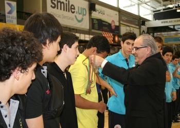 ABC recebe medalhas de 4.º classificado - Iniciados 2012