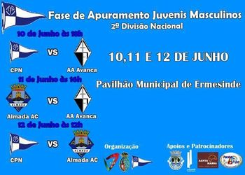 Cartaz Fase de Apuramento do Campeonato Nacional Juvenis Masculinos 2ª Divisão