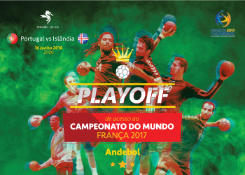 Cartaz Portugal : Islândia - Play-Off campeonato mundo