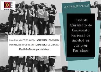Cartaz Fase de Apuramento - Campeonato Nacional Juniores Femininos 2015/16
