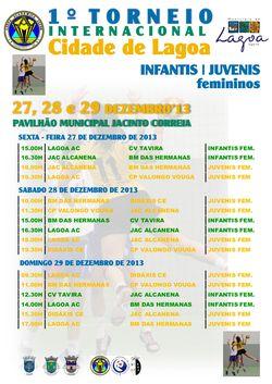 Cartaz - calendário I Torneio Internacional Cidade de Lagoa