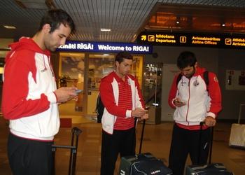 Chegada a Riga da Seleção Nacional Senior Masc. 07.01.2014