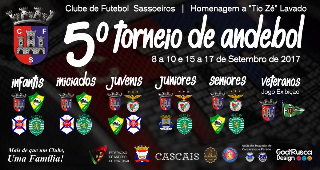 Cartaz - V Torneio de Andebol do CF de Sassoeiros
