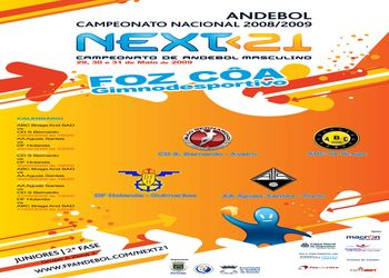 Cartaz da 2ª Fase Grupo A Zona 2 Next<21 - 29 a 31.05.09, Foz Côa
