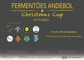 Cartaz Fermentões Andebol Christmas Cup 2018