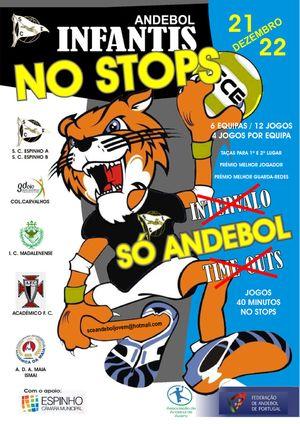 """Cartaz Torneio """"No Stops"""" dias 21 e 22 de Dezembro"""