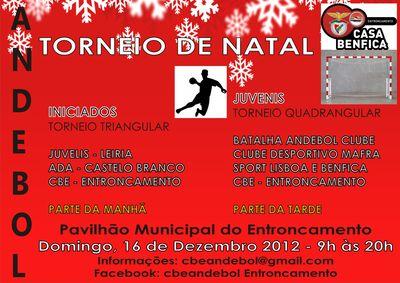 Cartaz do Torneio de Natal do Entroncamento