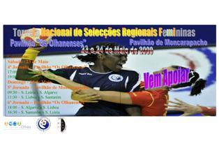 Cartaz Torneio Nacional Selecções Regionais Femininas - 23 e 24 Maio, Algarve