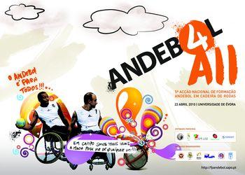 Cartaz Acção Nacional de Formação de Andebol em Cadeira de Rodas - Évora, 22.04.10