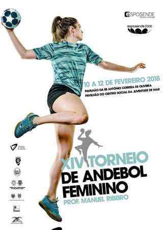 Cartaz XIV Torneio de Andebol Feminino – Prof. Manuel Ribeiro