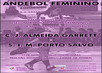 Cartaz CJ A. Garrett - SIM Porto Salvo - jogo apuramento 2ª fase PO10